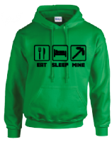 EAT SLEEP MINE HOODIE - INSPIRED BY MINECRAFT